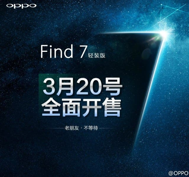 oppo find 7 on sale