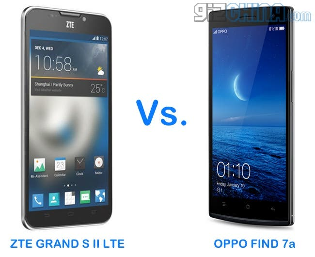 oppo find 7a vs zte grand s 2 lte
