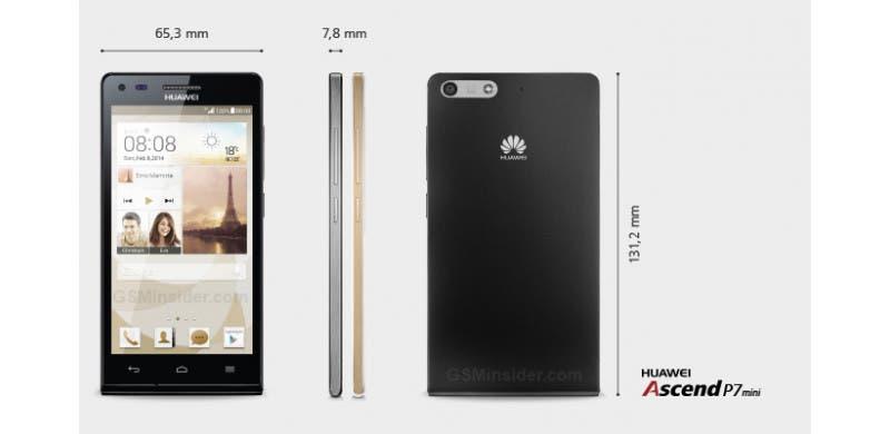 Huawei Ascend P7 Mini   представлена мини версия будущего флагмана