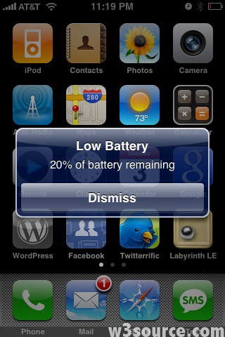 iphone low battery time for a new phone