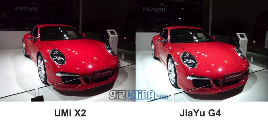 porsche qingdao international auto show Update: JiaYu G4 Vs. UMi X2 camera shootout at Qingdao International Auto Show 2013!