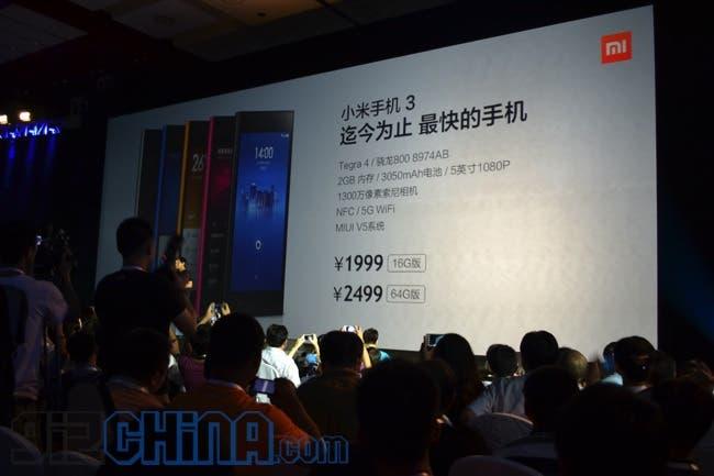 xiaomi mi3 price