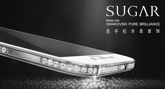 Sugar SS129   смартфон инкрустированный 129 кристалами сваровски