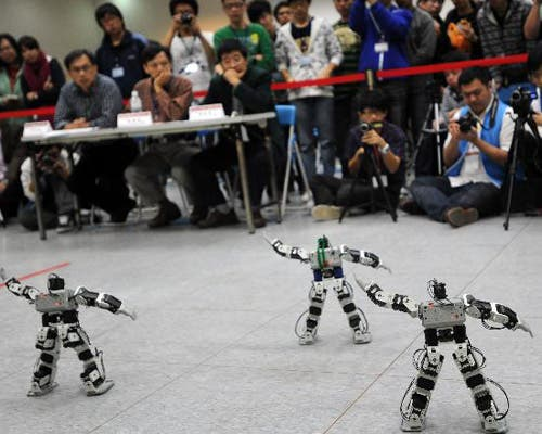 70 Teams Compete At Taipei Robot Contest