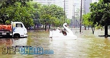 tianjin floods transport