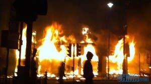 riots across britain