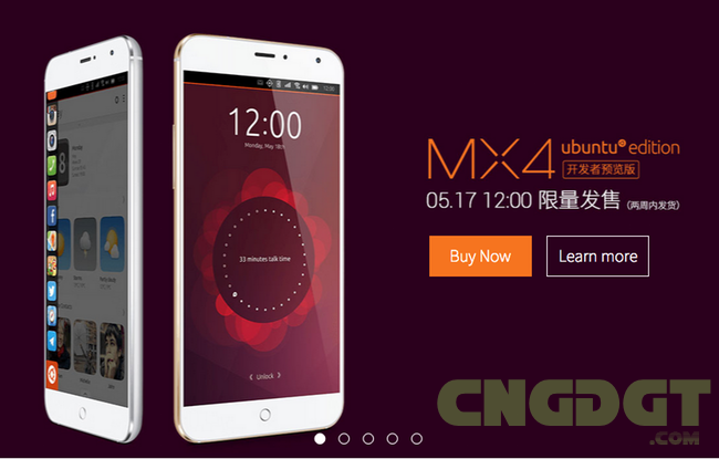meizu ubuntu mx4 launched