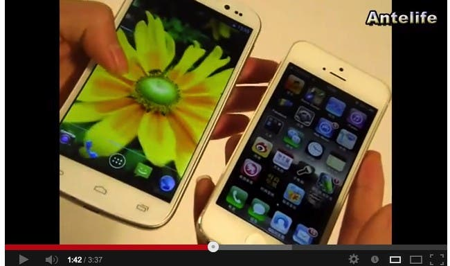 Video: UMi X2 vs iPhone 5 comparison