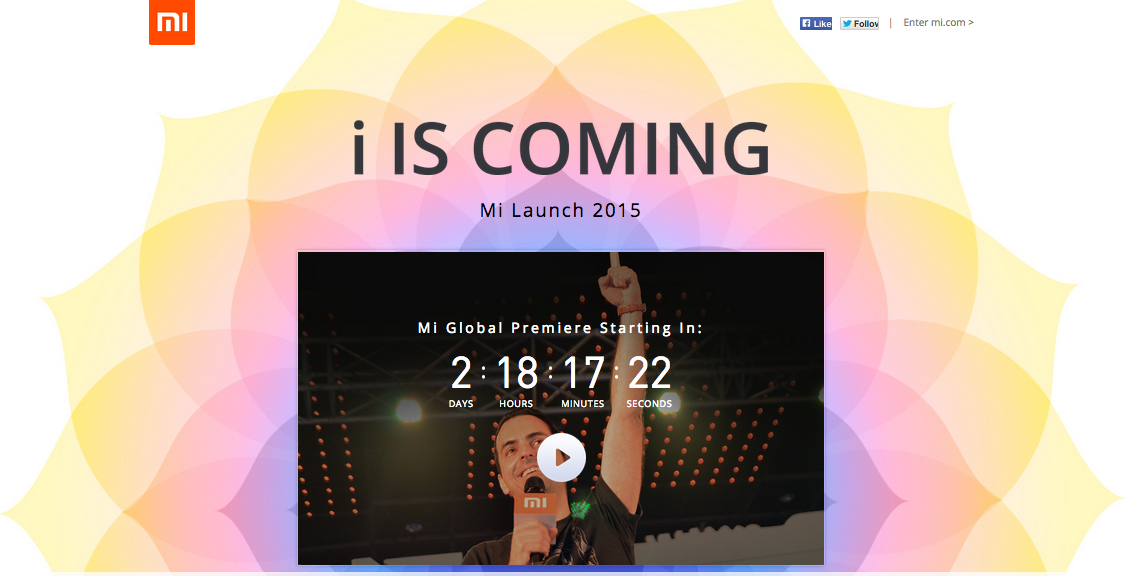 xiaomi i is coming