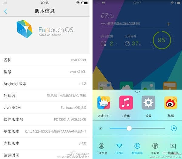 Funtouch 2.0 For Vivo Phones Leaked Based On Android 4.4.2