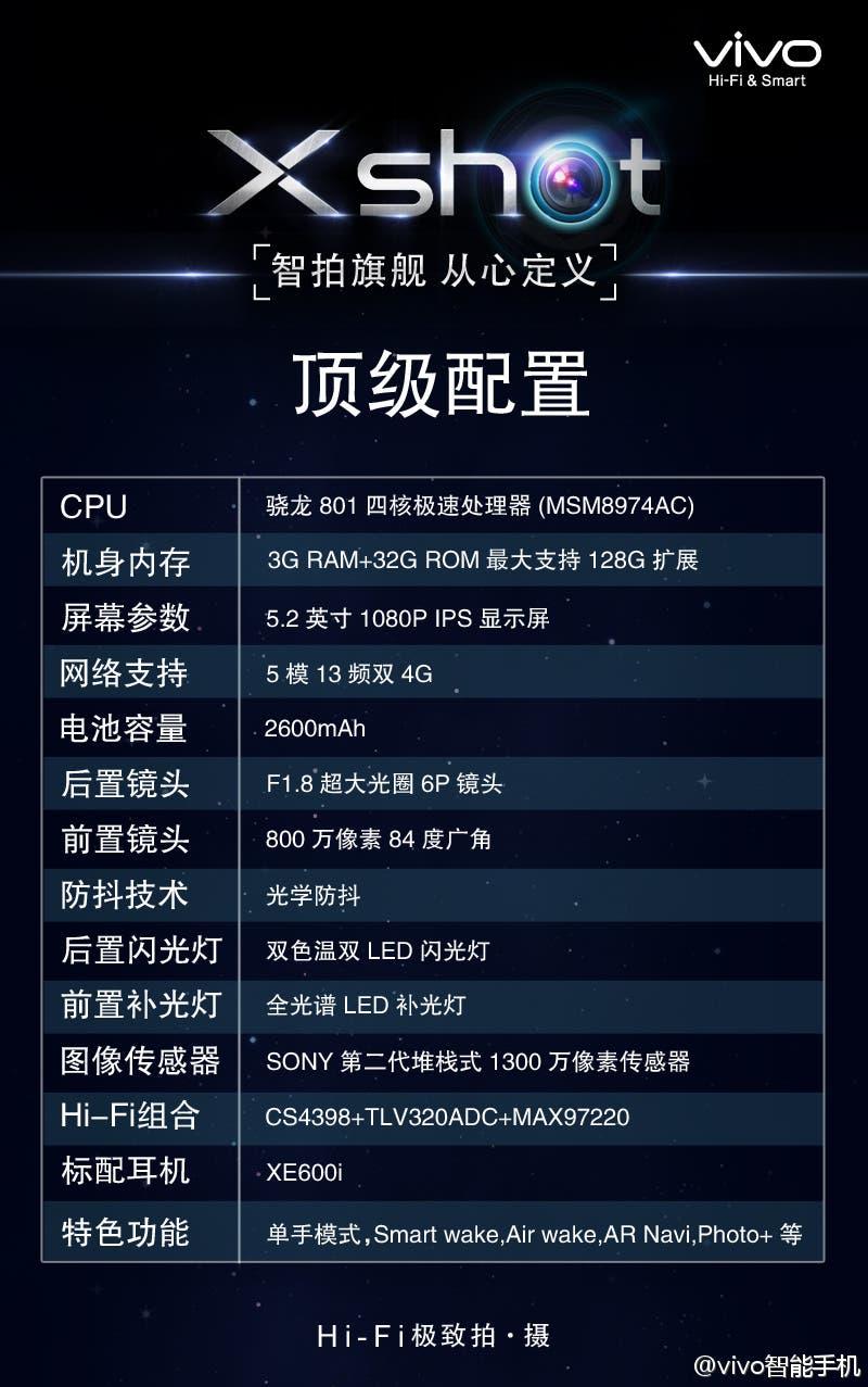 vivo xshot full specifications