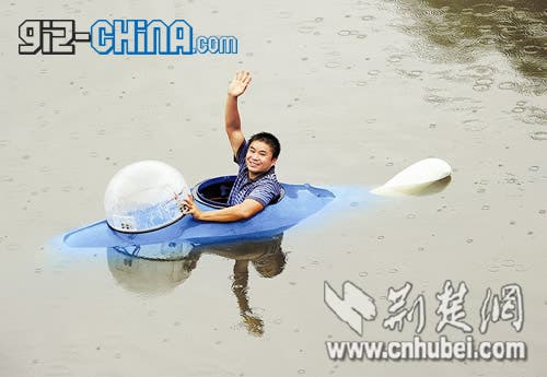 Homemade Chinese Submarine Can Stay Underwater for 10 Hours