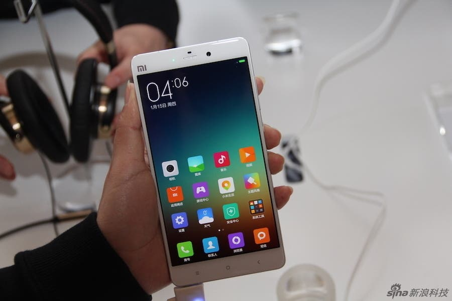 xiaomi mi note hands on photos