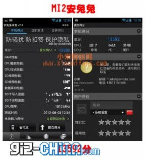 xiaomi mi2 vs samsung galaxy s3 benchmarks