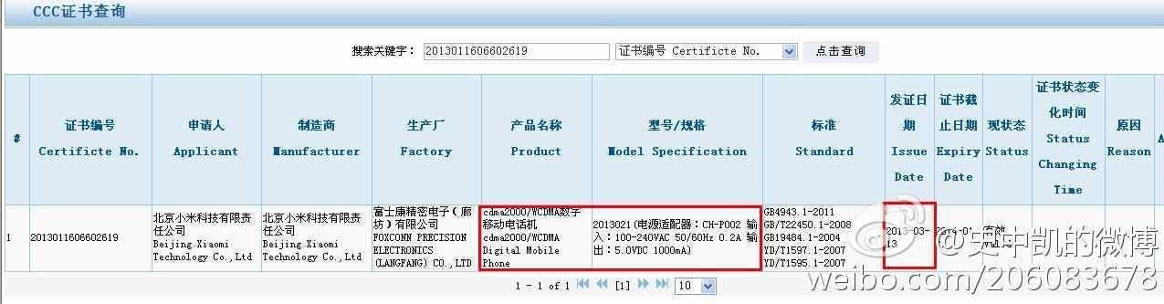 xiaomi mi2a china telecom network license
