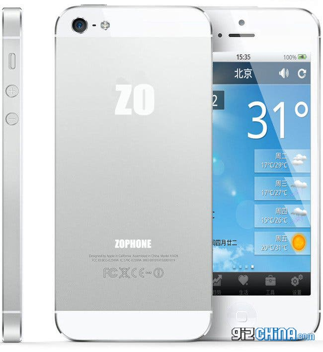 zophone iphone 5 clone china android google maps