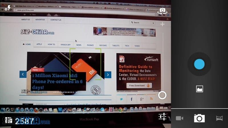 zopo zp900 camera options screenshot