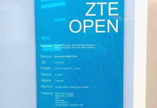 zte open firefox os specification